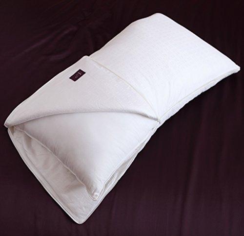 Waterford Julia Premium Standard Pillowcases Set 100/% Cotton 300TC White Floral