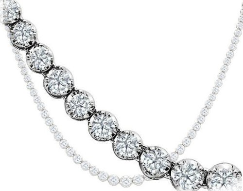 Diamonds Tennis Necklace 6.04ct Natural Diamonds