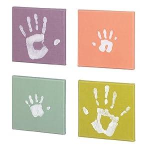 Baby Art Pop Art Print Paintings - Set de 4 cuadros para huellas de mano o pie en Bebe Hogar