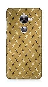 Amez designer printed 3d premium high quality back case cover for LeEco Letv Le 2 (goldish brown)