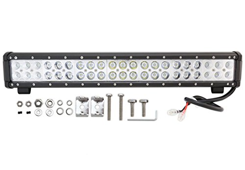 Prime Choice Auto Parts PLBAR20126I 20Inch 126W Cree LED Flood Spot Combo Light Bar (Dodge Journey Auto Parts compare prices)