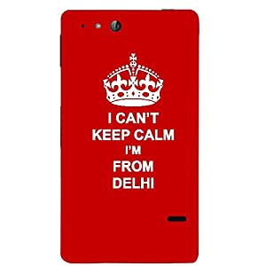 Skin4gadgets I CAN'T KEEP CALM I'm FROM DELHI - Colour - Red Phone Skin for SONY XPERIA GO (St27I)