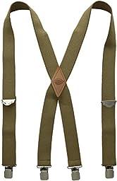 Dickies Men\'s 1-1/2 Solid Straight Clip Suspender,Beige,One Size