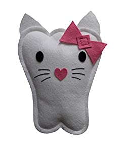 Tooth Fairy Pillow - Pink Kitty Cat