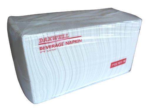 Daxwell Virgin Fiber 1/4-Fold Beverage Napkin, 9