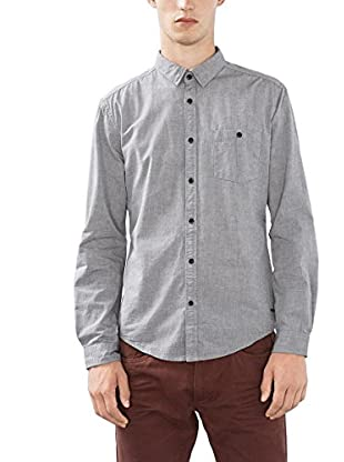 edc by ESPRIT Camisa Hombre (Gris Oscuro)