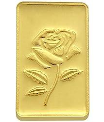 TBZ-The Original 25 gm, 24k(999) Yellow Gold Rose Precious Coin