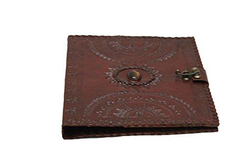 blf vintage handmade embossed leather portfolio resume pad
