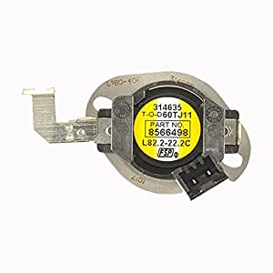 Whirlpool Part Number 8566498: Thermostat, HI-Limit