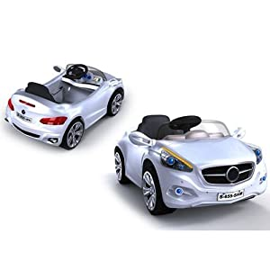 12v Battery Powered Electric Ride On Sports Cars In White - Ages 2+ Years