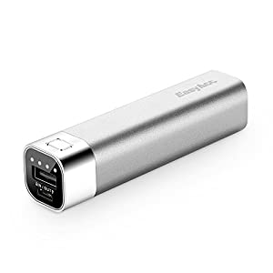 EasyAcc 2nd Gen. Metal 3000mAh Powerbank Ultra--compact External Battery Pack Protable Charger for Smartphones - Silver