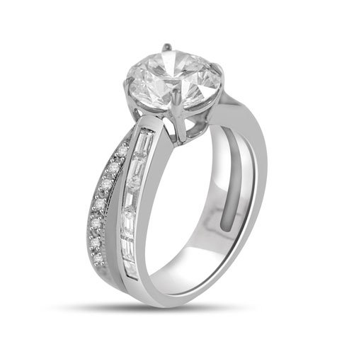 3.72 Ct Fancy Diamond Cocktail/engagement Ring in Platinum