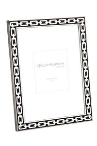 Reed & Barton Silver Link 5 by 7-Inch Frame, Midnight