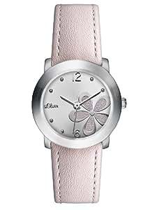 s.Oliver Damen-Armbanduhr XS Analog Quarz Leder SO-2598-LQ