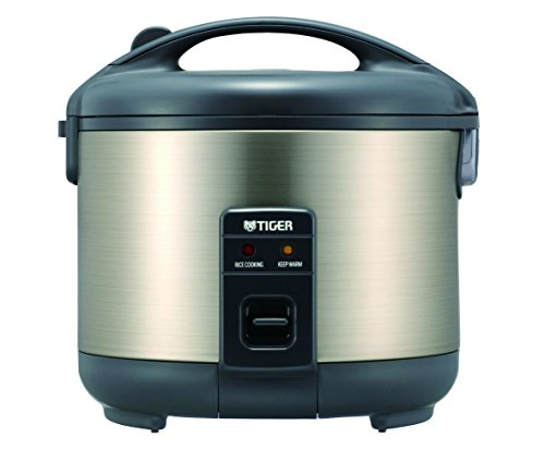 Tiger JNP-S15U-HU 8-Cup (Uncooked) Rice Cooker and Warmer, Stainless Steel Gray (Rice Cooker 8 Cup Uncooked compare prices)