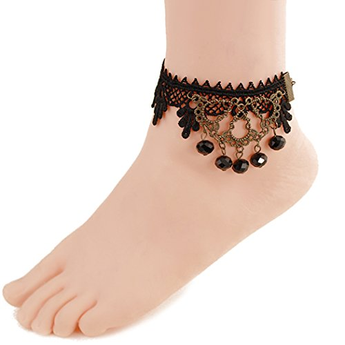time-pawnshop-personality-black-lace-sexy-anklet-black