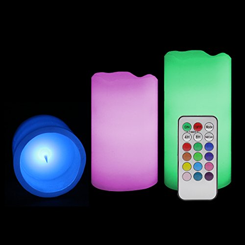Electric Flameless Pillar Candles Set LED Flickering Battery Operated Candle