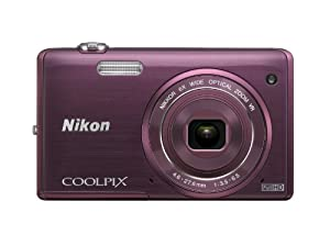 Nikon COOLPIX S5200 16 MP Digital Camera with Built-In Wi-Fi (Plum)