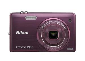 Nikon COOLPIX S5200 Wi-Fi CMOS Digital Camera with 6x Zoom Lens (Plum)