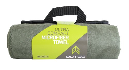 Outgo Ultra Compact Microfiber Towel Moss Green, Large