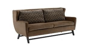 Armen Living 1030 Midtown Sofa, Rich Brown Fabric