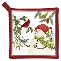 Snowman & Birds Potholder (1)