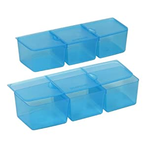 snapware snap 39 n stack six section divider