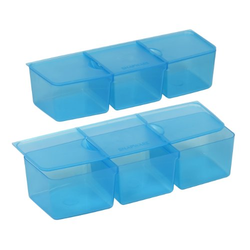 snapware snap 39 n stack six section divider insert 2 pack