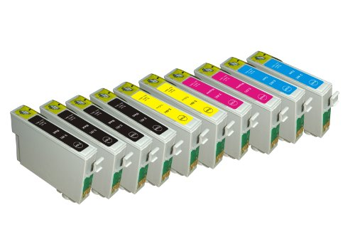Generic Remanufactured Ink Cartridges Replacement for Epson T069 (4xBlack, 2xCyan, 2xMagenta, 2xYellow, 10-Pack)