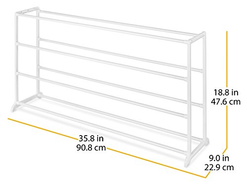 Whitmor 20 Pair Floor Shoe Rack,