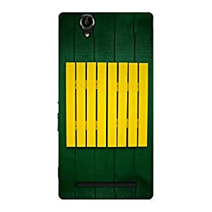 Green Squares Yello Back Case Cover for Sony Xperia T2