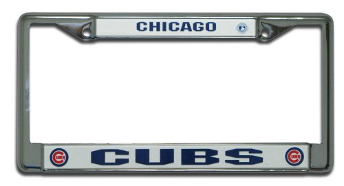 MLB Chicago Cubs Chrome License Plate Frame at Amazon.com