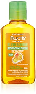 Garnier Sleek and Shine Moroccan Sleek Oil Treatment for Frizzy Dry Unmanageable Hair, 3.75 Fluid Ounce