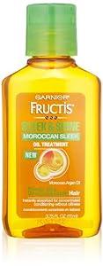 Garnier Sleek and Shine Moroccan Sleek Oil Treatment for Frizzy Dry Unmanageable Hair, 3.75 Fluid Ounce