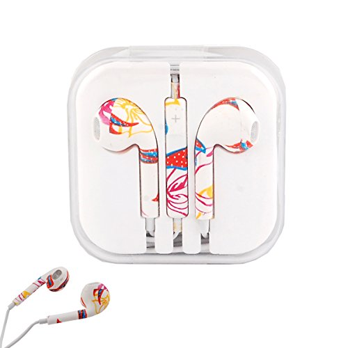 Vamvaz Colorful Design 3.5Mm Stereo Earphone Headset Earbuds Inear Volume Control Remote Mic For Apple Iphone Ipod Ipad