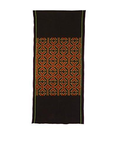 Uptown Down Found Peruvian Woven Table Runner, Brown/Multi
