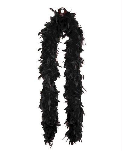 Zucker Feather Products Medium Weight Decorative Chandelle Boa, Black