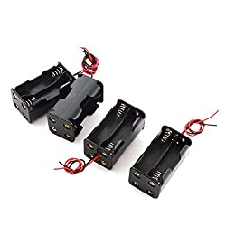 4pcs DIY Double Sides 4 x AA Battery Case Holder Box Container