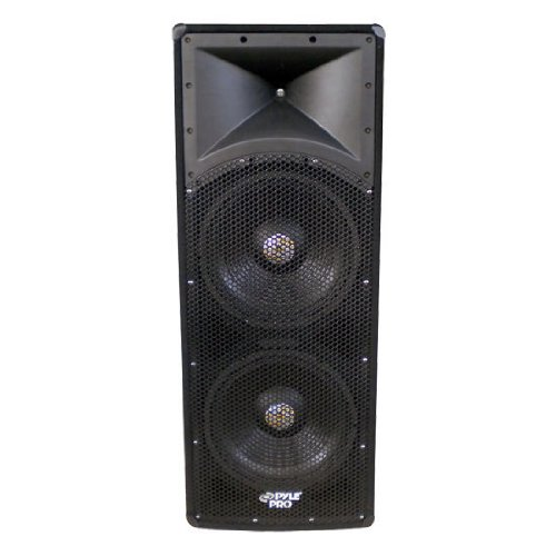 Pyle-Pro Padh124 1200 Watt Dual 12'' 3 Way Pa Speaker Cabinet