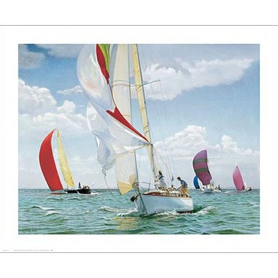The Return Sailboat Canvas Art Picture Type: Contemporary Mount With Beveled Edge front-1015565