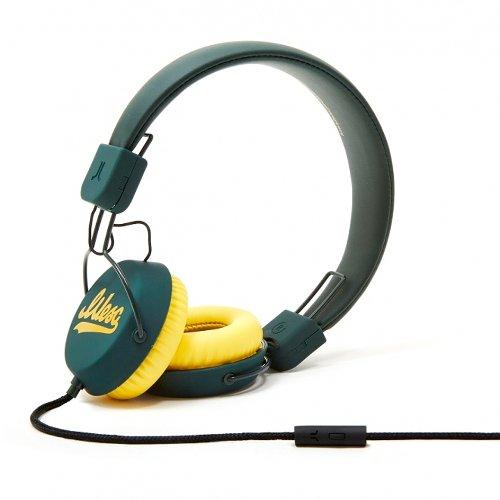 Wesc Piston Script - Green Headphones With Microphone