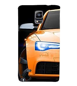 EPICCASE Orange Car Mobile Back Case Cover For Samsung Galaxy Note 4 (Designer Case)