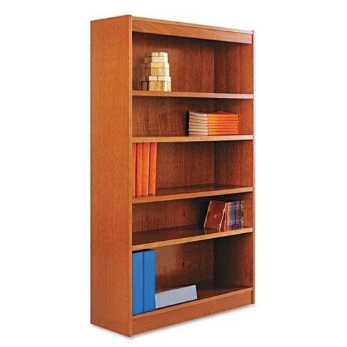 Six-Shelve Square Corner Bookcase Finish: Cherry