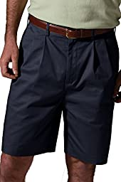 Ed Garments Men\'s Button Closure Wrinkle Resistant Pleated Short, NAVY, 42