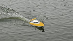 4 Channel 2.4g Rc Remote Control High Speed Racing Boat Ft007 Gift Yellow