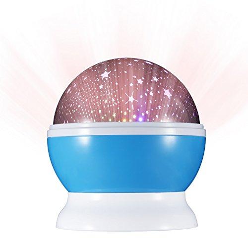 6d Romantic Nightlight Projector with Moon Star Sky Design Relax Night Light Lamp for Bedroom Living Room