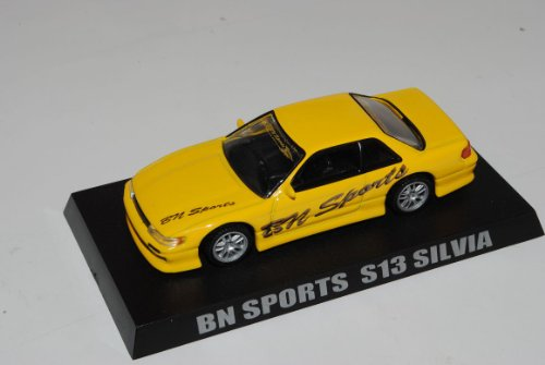 Nissan Silvia S13 BN Sports Coupe Gelb 1/64 Kyosho Sonderangebot Modell Auto