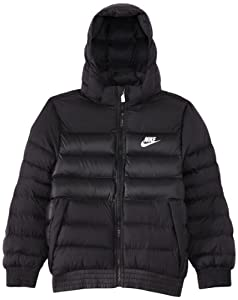 Nike Boy's Regular Stadium Jacket - Black/Black/Black/White, X-Small