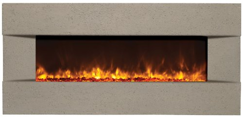 "Amantii Artisan 51"" Builtn Electric Fireplace Classico Venetian Gray Bltin5124Classicovenetia"
