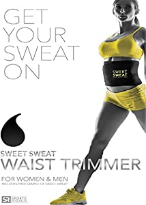 Sweet Sweat Premium Neoprene Waist Trimmer for Men & Women| Includes Free Sample of Sweet Sweat Workout Enhancer!